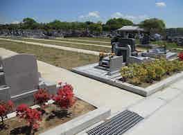 土浦市営 今泉第二霊園 デザイン墓のある区画