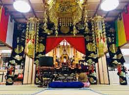 靖國寺 のうこつぼ 本堂内