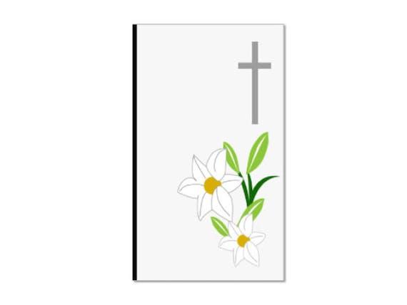 香典 表書きなし キリスト 花 十字架