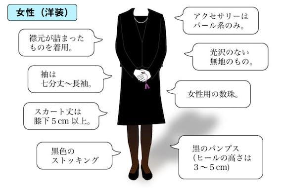 女性 喪服 洋式