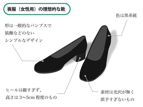 女性 喪服 靴 解説